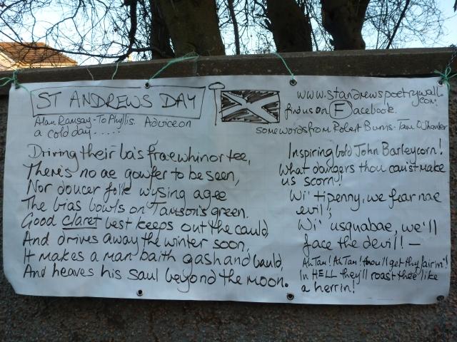 St Andrews Day 30th November.